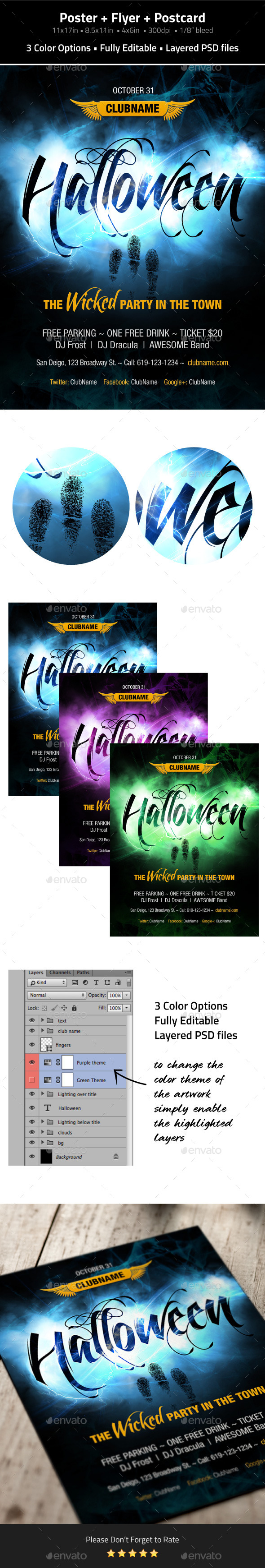 GraphicRiver Halloween Poster & Flyer & Postcard 8831716