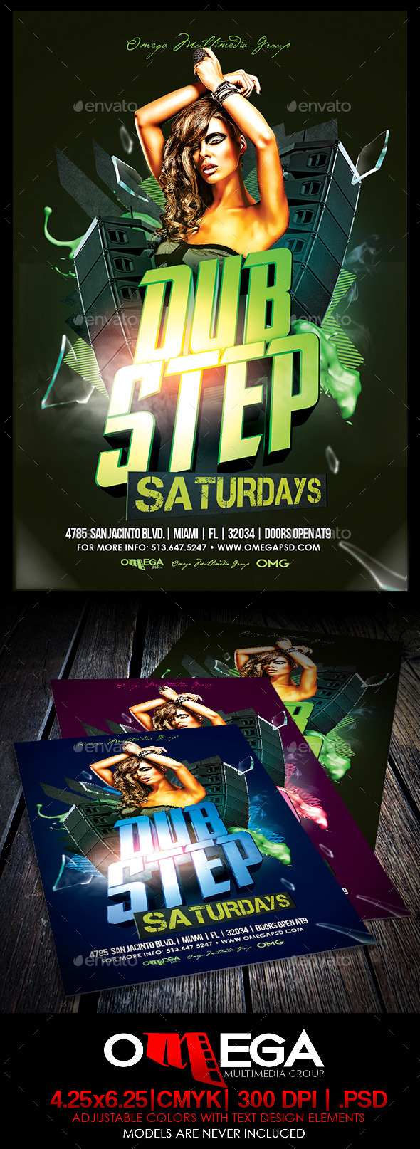 GraphicRiver Dubstep Saturdays 8841318