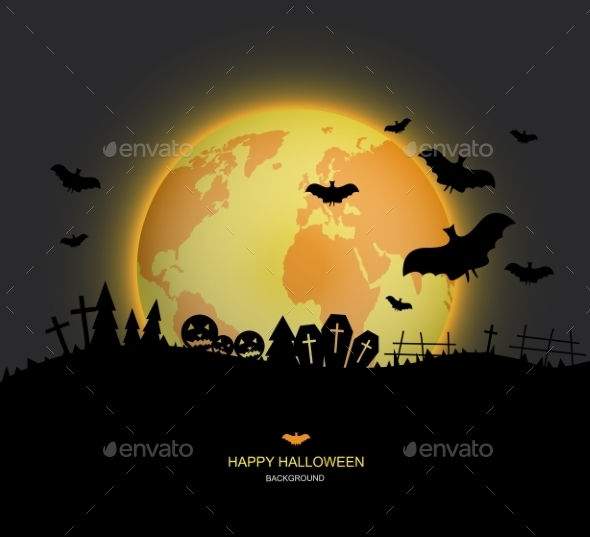 GraphicRiver Vector Modern Halloween Background 8841419