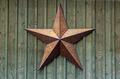 Metal Star On Wood Wall - PhotoDune Item for Sale