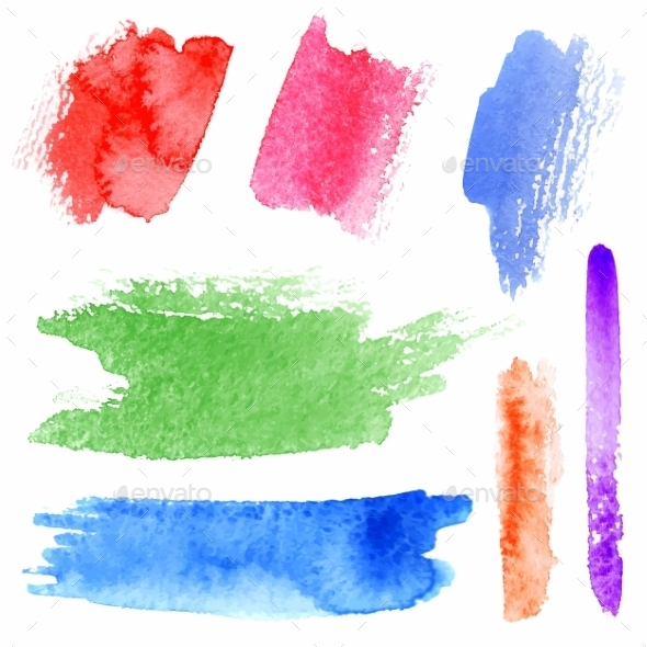 GraphicRiver Watercolor Strokes 8841929