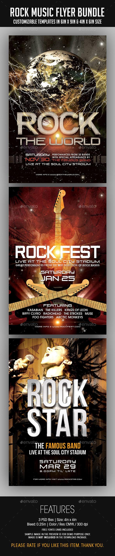 GraphicRiver Rock Music Flyer Bundle 8842044