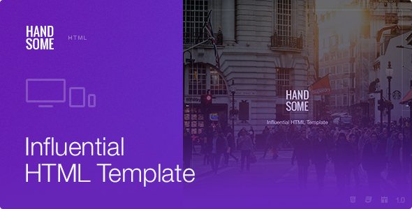 ThemeForest Handsome Responsive Influential HTML Template 8842090