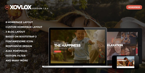 Xovlox - One Page Parallax Portfolio Theme - Portfolio Creative