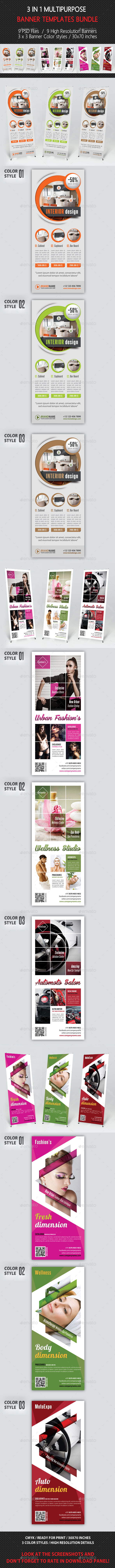 GraphicRiver 3 in 1 Multipurpose Banner Bundle 02 8842155