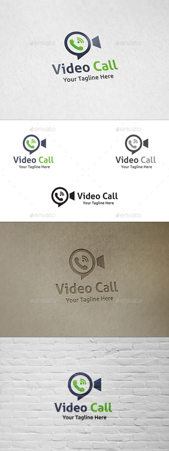 GraphicRiver Video Call Logo Template 8842252