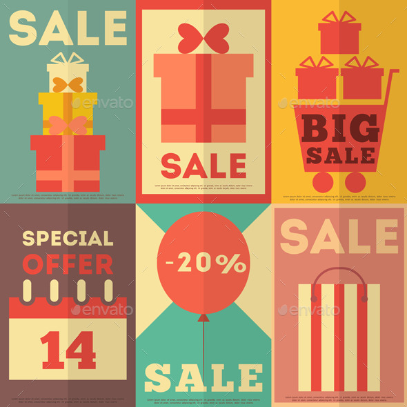 GraphicRiver Sale Posters Collection 8842296