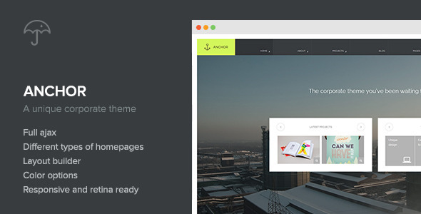 Anchor - Creative-Agency WordPress Theme - Corporate WordPress