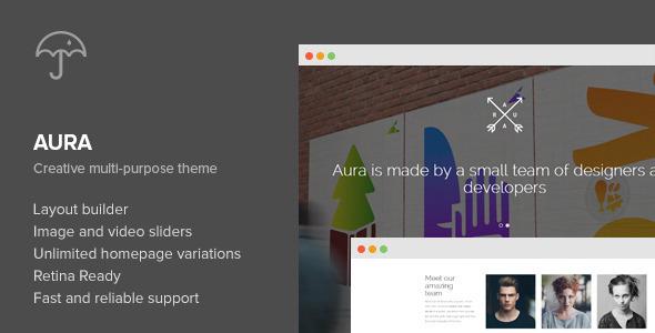 Aura - One Page Creative Multi-Purpose WP Theme - Creative WordPress