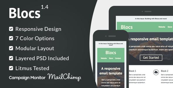 Blocs - Responsive Email Template - Email Templates Marketing