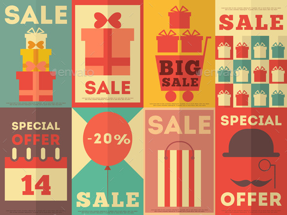 GraphicRiver Sale Posters Collection 8842406