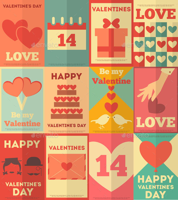 GraphicRiver Valentines Posters Collection 8842491