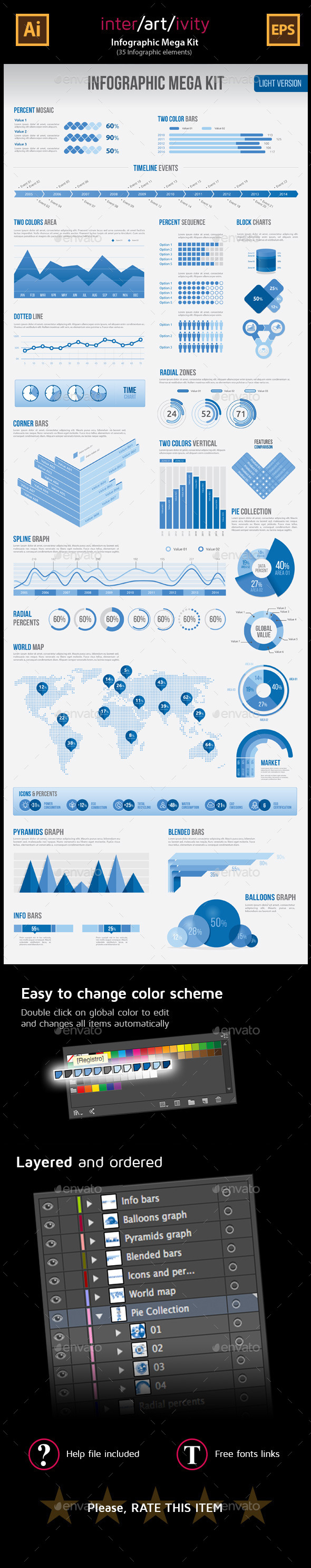 GraphicRiver Infographic MEGA KIT 8791865