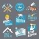 Roofer Label Set - GraphicRiver Item for Sale