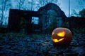 Halloween pumpkin with ancient gate - PhotoDune Item for Sale