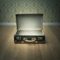 Open vintage suitcase - PhotoDune Item for Sale