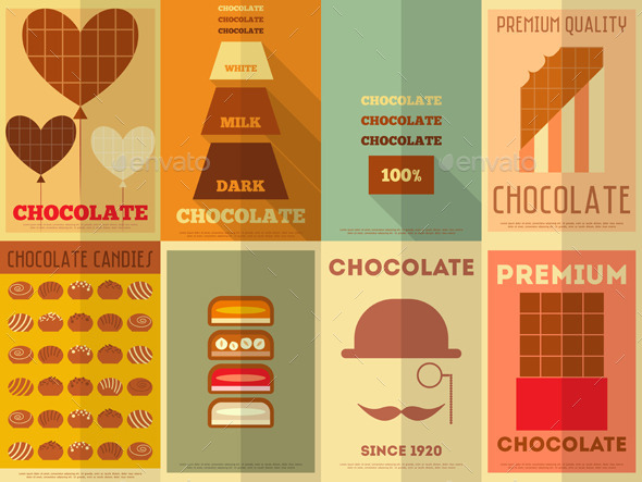 GraphicRiver Retro Chocolate Posters Collection 8842676