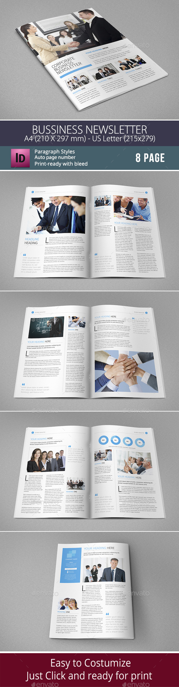 GraphicRiver Corporate Business Newsletter Template 8842852