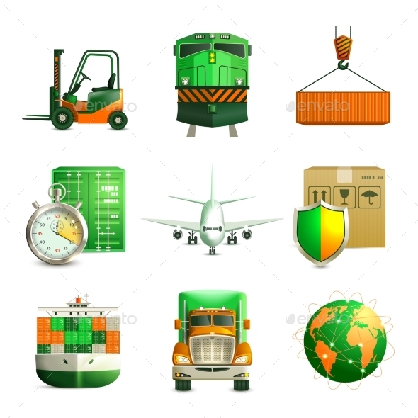 GraphicRiver Logistic Icons Set 8842974