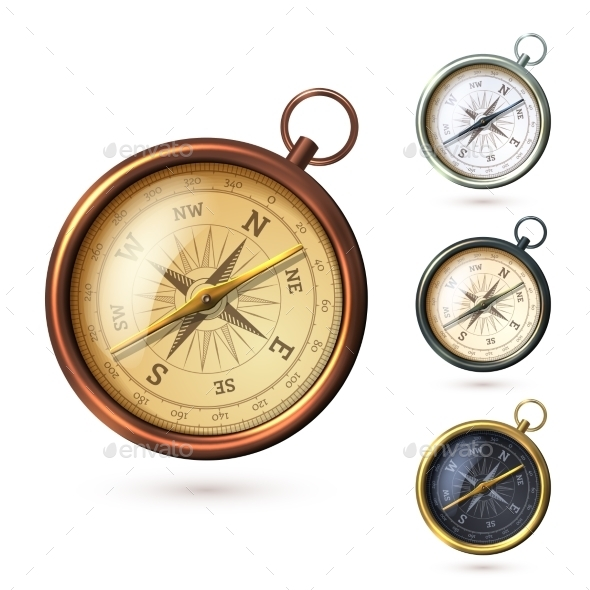 GraphicRiver Antique Compass Set 8843003