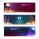 City at Night Horizontal Banners - GraphicRiver Item for Sale