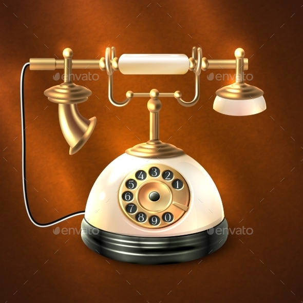 GraphicRiver Retro Style Telephone 8843034