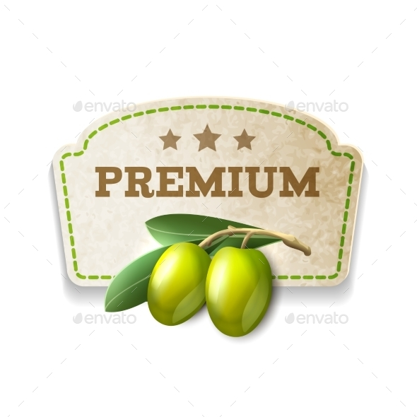 GraphicRiver Olive Kitchen Badge 8843035