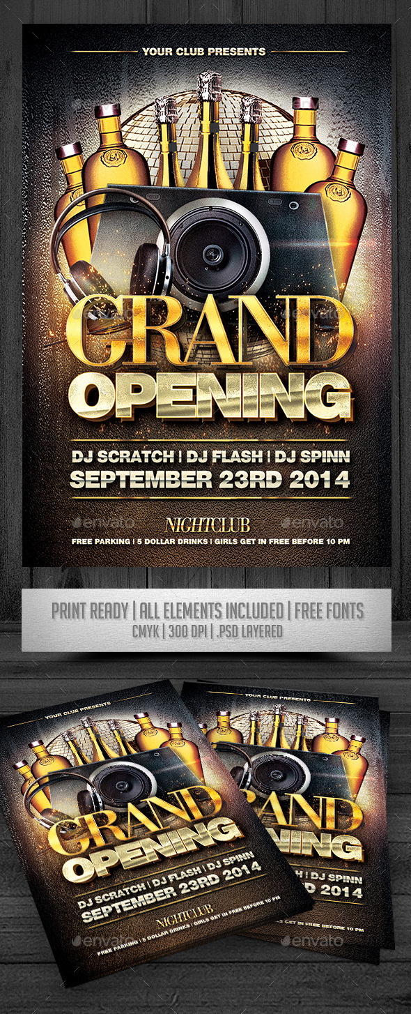 GraphicRiver Grand Opening Flyer 8843174