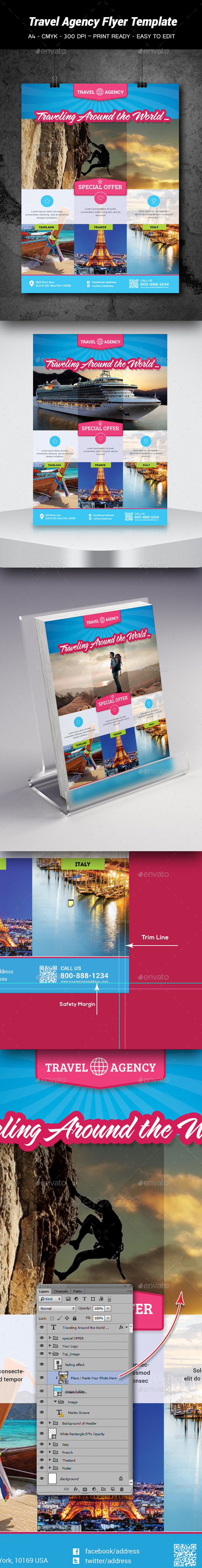 GraphicRiver Travel Agency Flyer Template 8843330