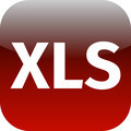 File XLS sign icon. Download document file symbol. red shiny button. - PhotoDune Item for Sale