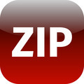 Archive zip red icon for apps - PhotoDune Item for Sale