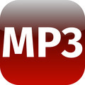 red mp3 music icon - PhotoDune Item for Sale