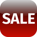 red text sale icon - PhotoDune Item for Sale