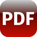 File PDF sign icon. Download document file symbol. red shiny button. - PhotoDune Item for Sale