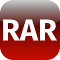 Archive rar red icon for apps - PhotoDune Item for Sale