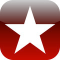 red and white star icon or button - PhotoDune Item for Sale