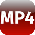 MP4 red download icon - PhotoDune Item for Sale