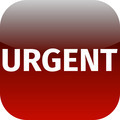 text urgent on red icon - PhotoDune Item for Sale