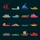 Ship and Boats Icons Set - GraphicRiver Item for Sale
