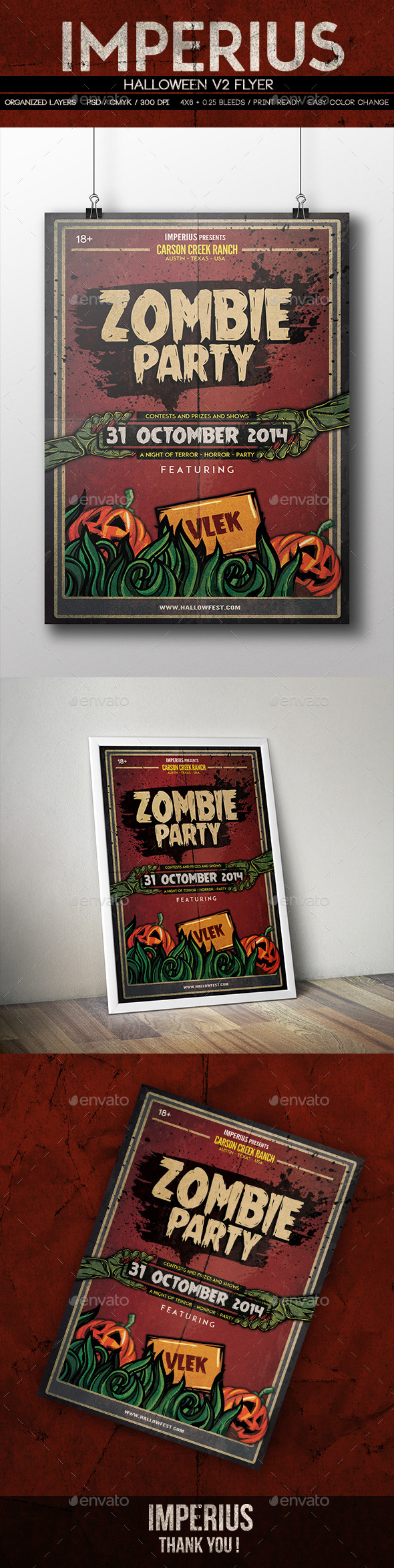 GraphicRiver Halloween V2 Flyer 8843416