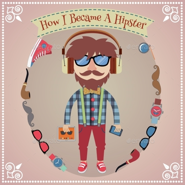 GraphicRiver Hipster Boy Poster 8843476