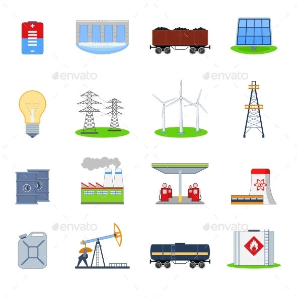 GraphicRiver Energy Icons Set 8843483