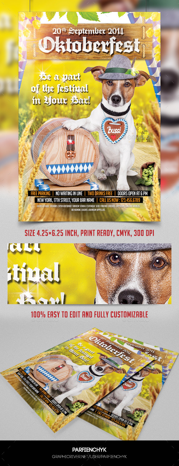 GraphicRiver Octoberfest Flyer Template 8843505
