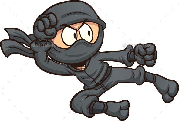 cartoon ninja clip art - photo #8
