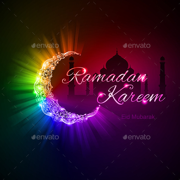 GraphicRiver Greeting Card of Holy Muslim month Ramadan 8843593