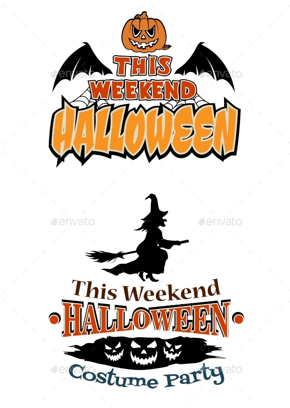GraphicRiver This Weekend Halloween Party Theme Designs 8843771