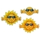 Cartoon Smiling Sun Characters with Sunglasses - GraphicRiver Item for Sale