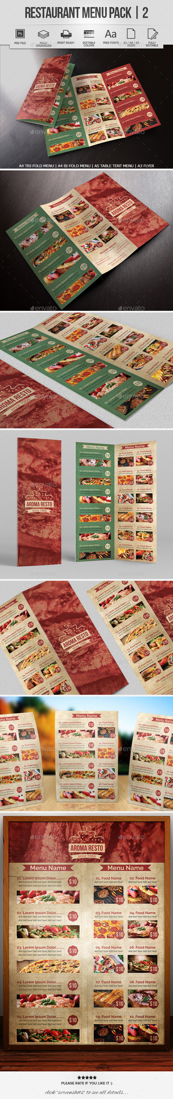 GraphicRiver Restaurant Menu Pack 2 8843868