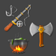 Viking Inspired Realistic Icons. - GraphicRiver Item for Sale