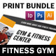 Fitness Gym Print Bundle - GraphicRiver Item for Sale